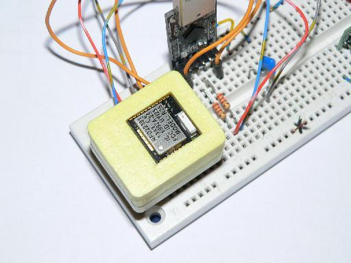 RF Arduino RFD22301 Test Fixture mounted