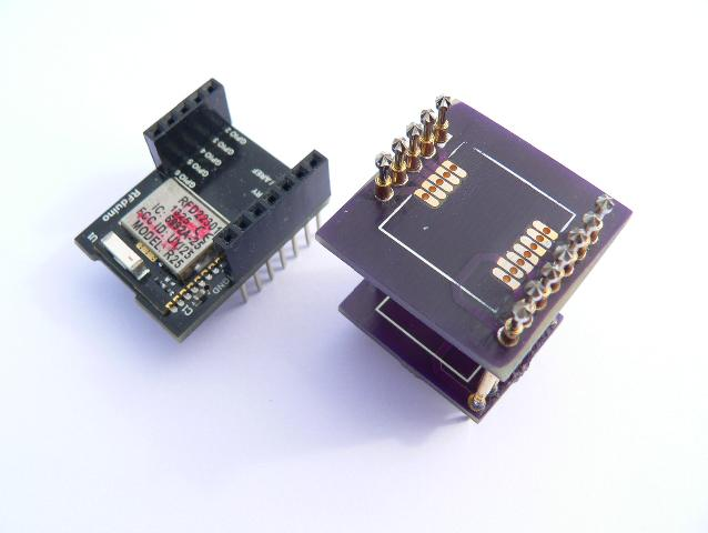 RF Arduino RFD22301 Test Fixture comparison